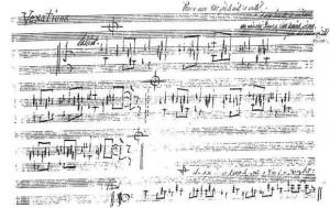 Manuscript of Satie's Vexations